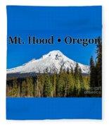 Mount Hood Oregon In Winter 02 Fleece Blanket