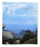 Mount Lemmon View Fleece Blanket
