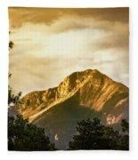 Mount Pagosa Gold Fleece Blanket