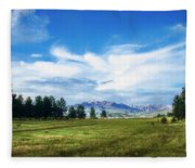 Mount Pagosa Meadow Fleece Blanket