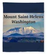 Mount Saint Helens Washington Fleece Blanket