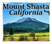 Mount Shasta California Fleece Blanket