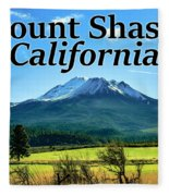 Mount Shasta California Fleece Blanket