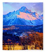 Mount Sneffels Fleece Blanket