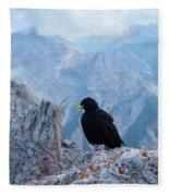 Mountain Jackdaw Fleece Blanket