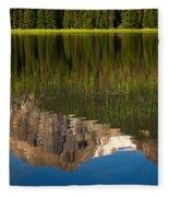 Mountain Reflection In Beirstadt Lake Fleece Blanket