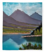 Mountain Reflections Fleece Blanket