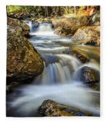 Mountain Stream Waterfall  Fleece Blanket