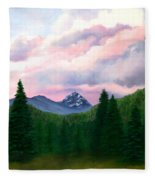 Mountain And Sky Fleece Blanket