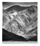 Mountains At Pangong Fleece Blanket by Whitney Goodey