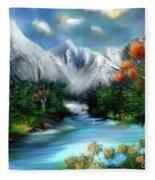 Mountains Majesty Fleece Blanket