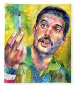 Mr Bad Guy - Freddie Mercury Portrait Fleece Blanket