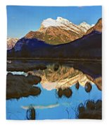 Mt Rundle Fleece Blanket
