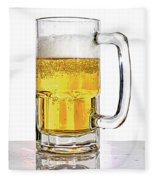 Mug Of Beer Fleece Blanket