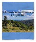 Muir Woods National Monument California Fleece Blanket