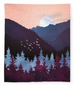 Mulberry Dusk Fleece Blanket