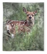 Mule Deer Fawn Fleece Blanket