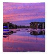 Mystic Lake Sunrise Fleece Blanket