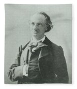 Nadar Portrait Of Charles Baudelaire Fleece Blanket