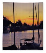 Narrow Sunset Fleece Blanket