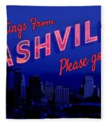 Nashville Postcard Fleece Blanket