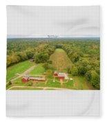 Nathan Hale Homestead Fleece Blanket