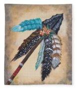 Native American Style  Fleece Blanket