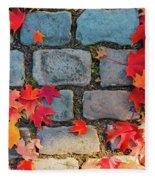 Natural Autumn Leaf Background  Fleece Blanket