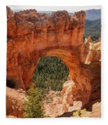 Natural Bridge - Bryce Canyon - Utah Fleece Blanket