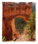 Natural Bridge - Bryce Canyon - Utah - Vertical Fleece Blanket