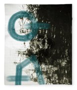 Natural Reflections With Blue Shapes Fleece Blanket