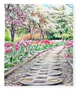 Naturalness And Flowers 36 Fleece Blanket
