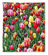Naturalness And Flowers 55 Fleece Blanket