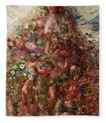 Nature Or Abundan Fleece Blanket