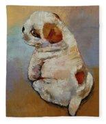 Naughty Puppy Fleece Blanket