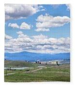 Near Princeton British Columbia Fleece Blanket