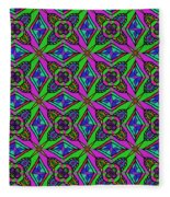 Neon Diamond Pattern Fleece Blanket