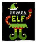 Nevada Elf Xmas Elf Santa Helper Christmas Fleece Blanket