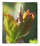 New Chokecherry Leaves Fleece Blanket