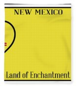 New Mexico State License Plateai Fleece Blanket