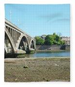 new road bridge across river Tweed at Berwick-upon-tweed Fleece Blanket