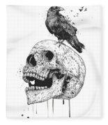 New Skull Fleece Blanket
