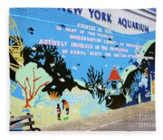 New York Aquarium, Coney Island, Brooklyn, New York Fleece Blanket