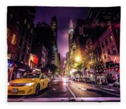 New York City Street Fleece Blanket