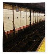 New York City Subway Line Fleece Blanket