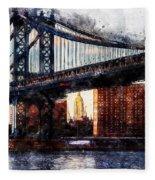 New York Panorama - 30 Fleece Blanket