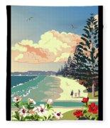 New Zealand Orewa Beach Fleece Blanket