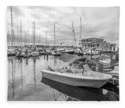 Newport Rhode Island Harbor Fleece Blanket
