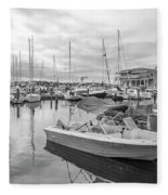 Newport Rhode Island Harbor Fleece Blanket