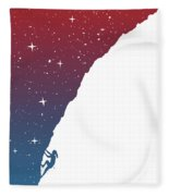Night Climbing II Fleece Blanket